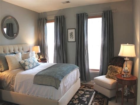 Bedroom Colors : Curtain Color For Blue Walls, Blue Grey Bedroom Colors