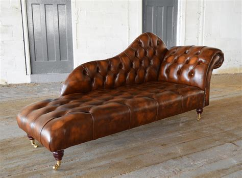 chaise chesterfield antique leather chesterfield chaise lounge abode sofas