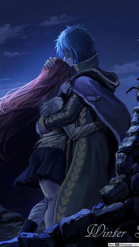 fairy tail erza scarlet jellal fernandes hug hd