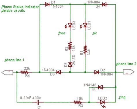 Telephone Status Indicator With Led Delabs Schematics