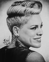 Pencil Drawings Singer Pink