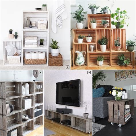 wooden crates  amazing diy projects  homes