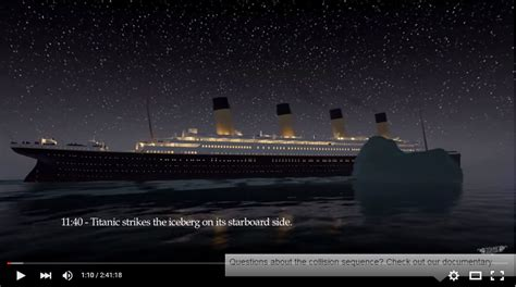 watch the titanic sink in this gripping animation south