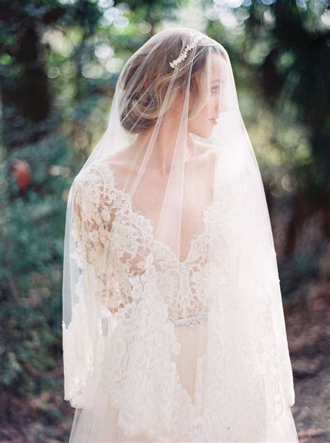 Lace Wedding Dress And Veil By Emily Riggs Image By