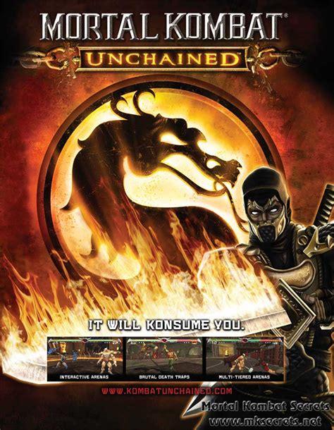 Mortal Kombat Unchained Single Page Ad Box Art Mortal