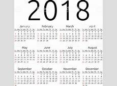 ベクトルカレンダー 2018 日曜日の のイラスト素材 497306232 iStock