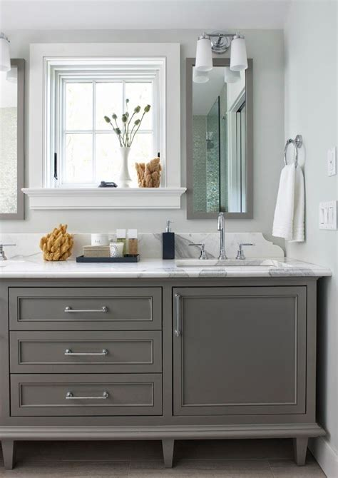 bathroom cabinets painted  boothbay gray  benjamin