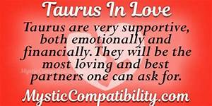 Taurus In Love Mystic Compatibility