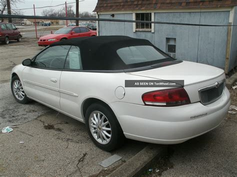 Chrysler Sebring Lxi by 2001 Chrysler Sebring Convertible Lxi