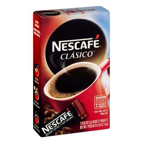 Take nescafe coffee powder and sugar in a cup. Nescafe Clasico Dark Roast Instant Coffee Packets - Shop Coffee at H-E-B