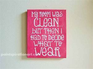 Quote canvas painting pink wall art college dorm