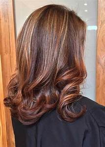Brown Hair With Auburn And Caramel Highlights - Brown Hairs