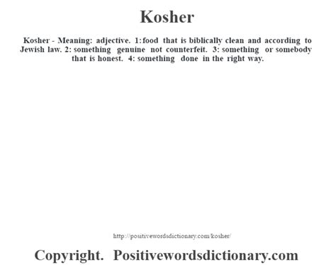 kosher definition kosher definition kosher meaning positive words dictionary