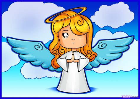 draw  cartoon angel step  step christmas stuff