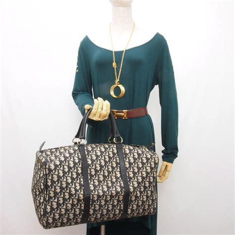 vintage christian dior black monogram large  speedy bag handbag purse ebay