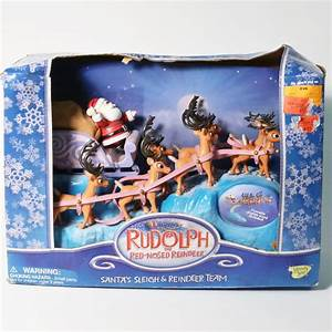Memory Lane Rudolph The Red-Nosed Reindeer Santa's Sleigh ...