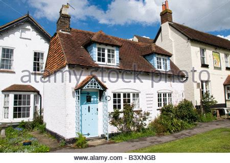 Cottages Surrey by Cottages In The Of Brockham In Surrey Uk Stock
