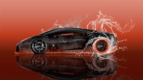 lamborghini gallardo side super water car  wallpapers