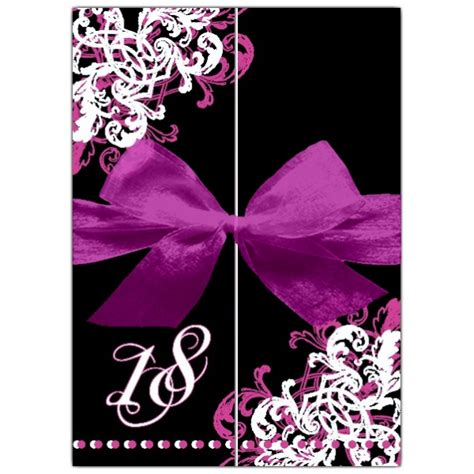ornamental corner pattern gatefold  invitations