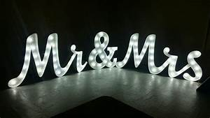 light up mr mrs letters set joined writing style with With tall light up letters