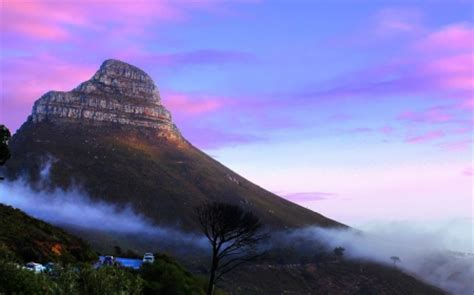 sunrise  table mountain cape town south africa