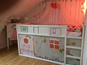 Lit Cabane Mezzanine : rideau de lit une cabane sous le lit mezzanine chambre d 39 enfant de b b par fil de ~ Melissatoandfro.com Idées de Décoration