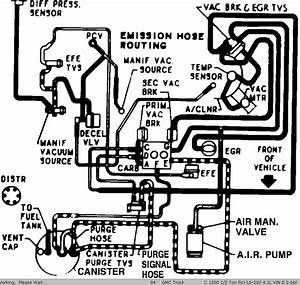 Vacuum Hose Routing Diagram For Air Cleaner Mounted