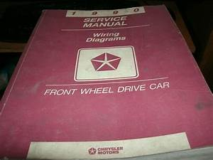 1990 Dodge Chrysler Plymouth Imperial Front Wheel Drive