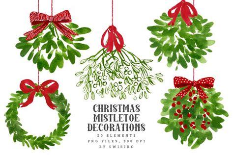 mistletoe christmas clip art pre designed photoshop