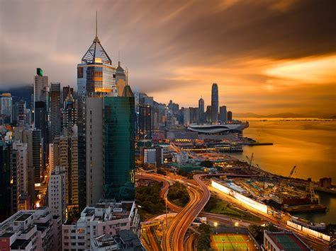 Hong Kong City At Night-china-desktop Hd Wallpapers For