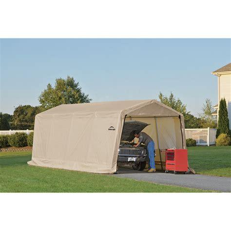 shelter garage shelterlogic instant garage auto shelter 20ft l x 10ft
