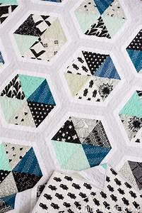 triangle hexies pdf quilt pattern quilty