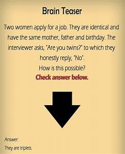 Funny Brain Teasers Funny Collection World