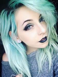 grunge earrings black lipstick and blue on
