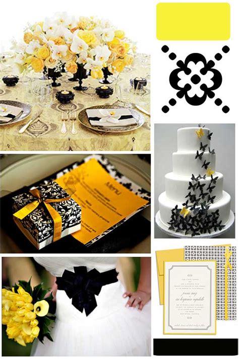 evoking elegance yellow black wedding inspirations