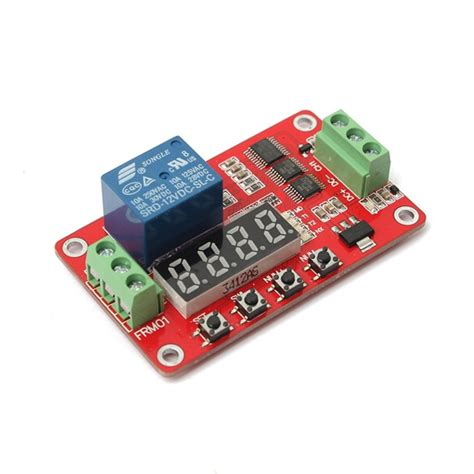 12v dc multifunction self lock relay plc cycle timer module delay time switch alexnld