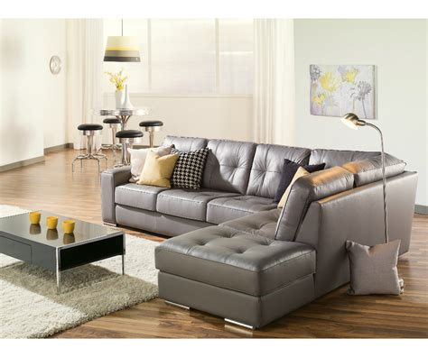Living Room Gray Sofa by Artem Sofa 902511 Rs Grey Leather Sectional Need Lhf