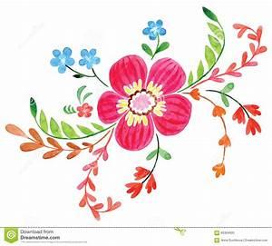 Blumen Bilder Gemalt : blumen gemalt im aquarell vektor abbildung illustration von gemalt 65304000 ~ Orissabook.com Haus und Dekorationen