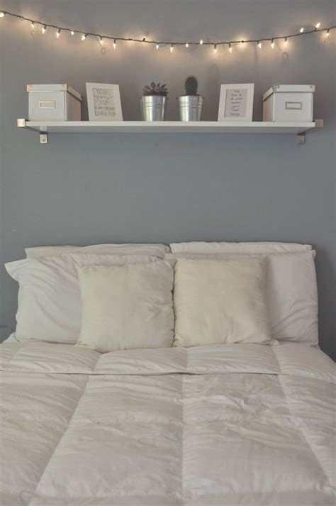 Bedroom Decor Light Blue Walls by Calming Light Blue Wall Shelf Above The Bed Seems So