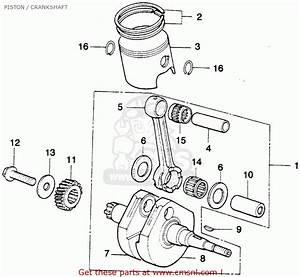 Honda Mt250 Elsinore 1975 K1 Usa Piston    Crankshaft