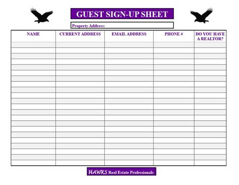 open house sign  sheet  word excel  real
