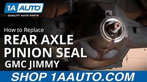 How To Install Replace Rear Axle Differential Pinion Seal
