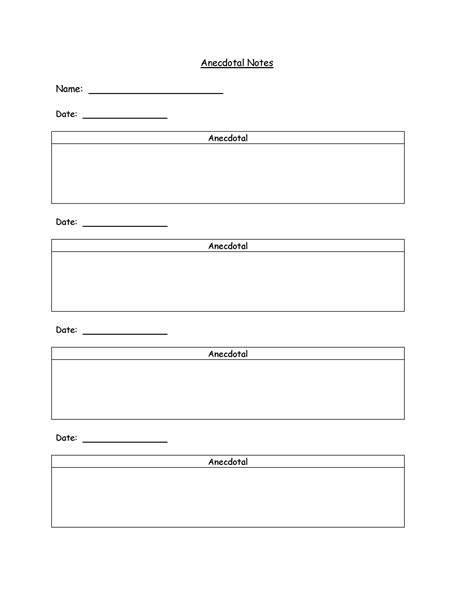 7 best images of preschool anecdotal notes examples 505 | anecdotal notes template 453332