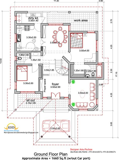 style house plans house plan and elevation 2165 sq ft kerala home design