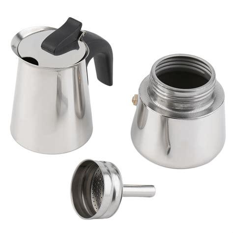 espresso pots stove top 2 4 6 cup percolator stove top coffee maker moka espresso latte stainless pot l ebay