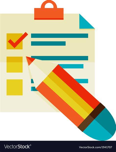 Checklist Clipart Checklist Royalty Free Vector Image Vectorstock