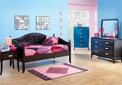 Rooms To Go Kids : Belle Noir Dark Merlot Pc Daybed Bedroom-twin Bedroom Sets