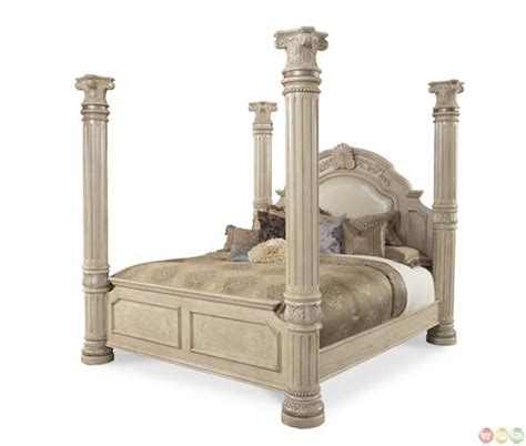 michael amini monte carlo ii eastern king poster bed with