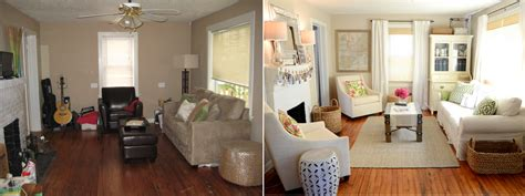 Living Room Makeovers Before And After Pictures by Iron Twine Living Room Before After