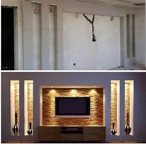 Wohnzimmer Tv Wand Ideen : pin von auf wohnzimmer ideen tv wand ~ A.2002-acura-tl-radio.info Haus und Dekorationen
